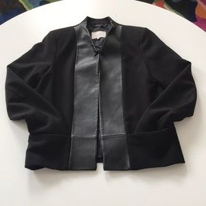 Sandro black blazer 36 lamb leather lapels